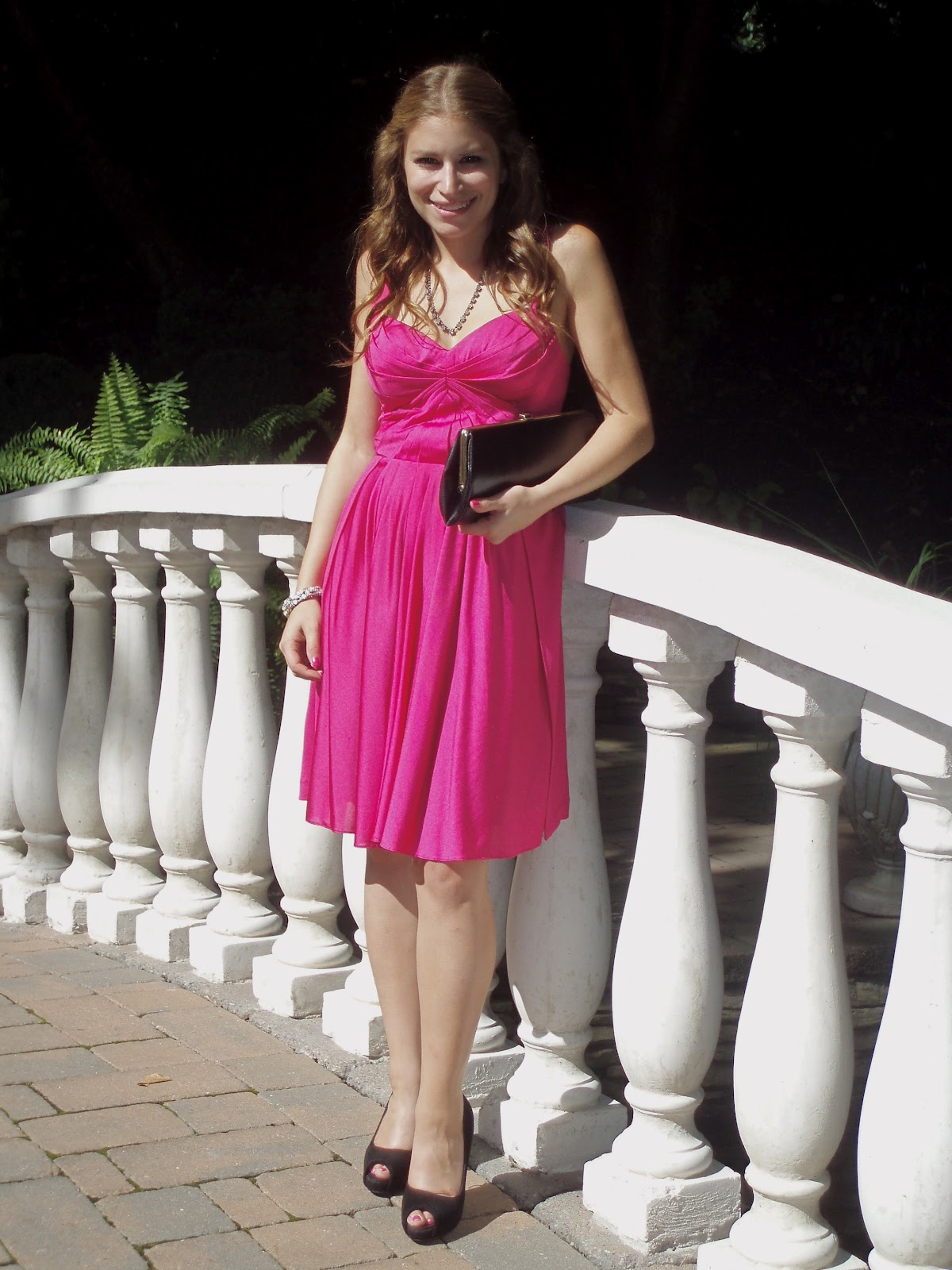 The Tiny Heart Wedding Guest Attire Hot Pink