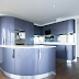 Modern Blue Kitchen Cabinets Design Idea