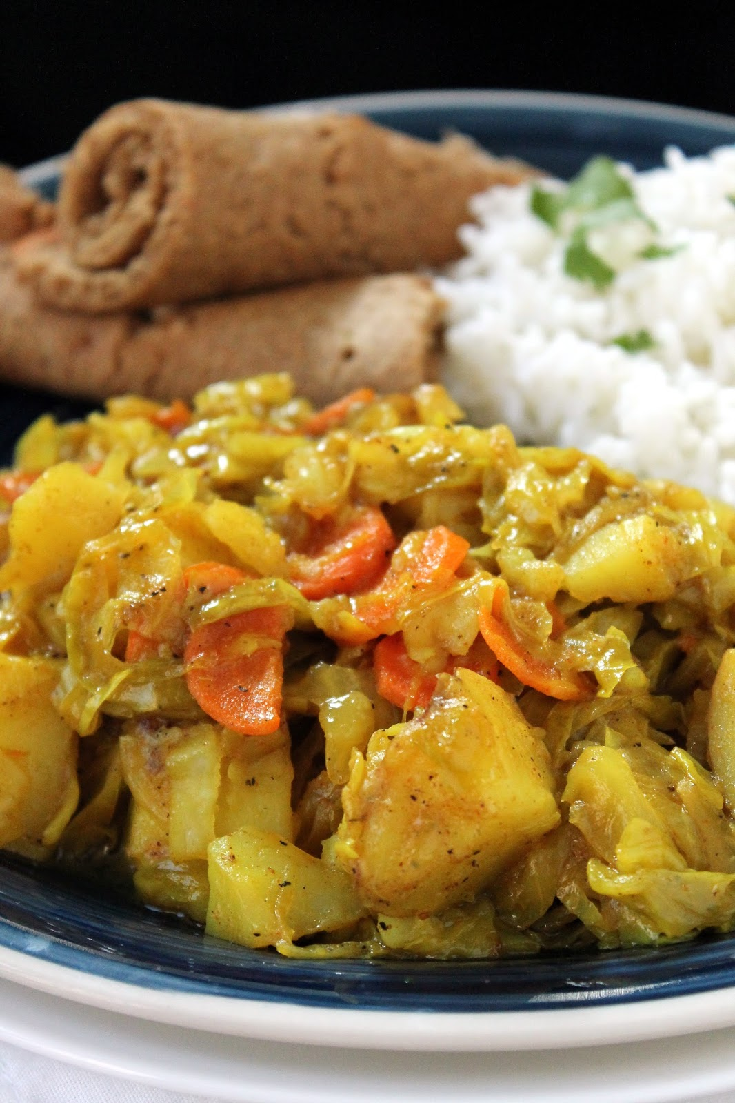 Curry Chicken With Cabbage And Potatoes