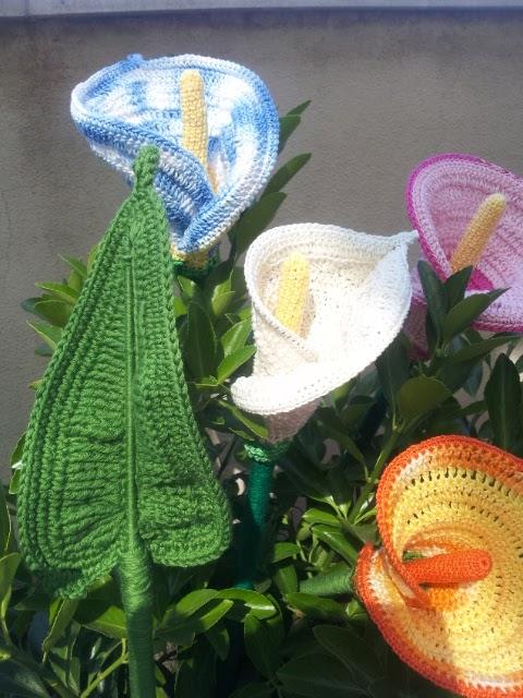 Belle cose le calle a crochet for Calle colorate non fioriscono