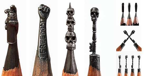 Esculturas em miniatura na ponta do Lápis - Salavat Fidai