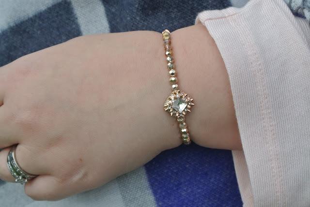 River Island rose gold tone bracelet Image