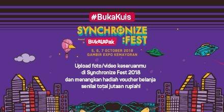 Bukalapak - Promo BukaKuis Event Synchronize Festival 2018 (s.d 14 Okt 2018)