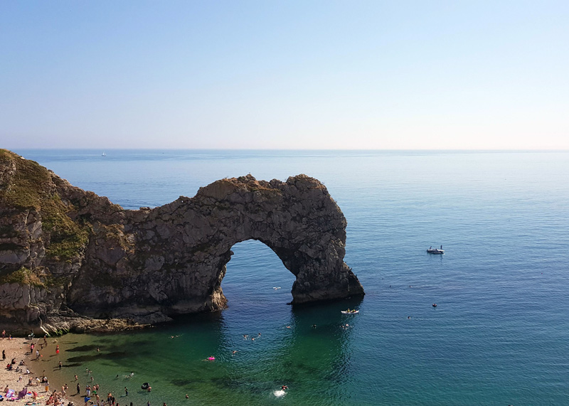 Durdle Door in Summer