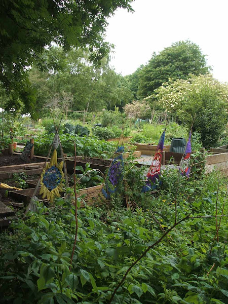 inspirational ideas for decorating your allotment with fabric dream catchers, mandalas