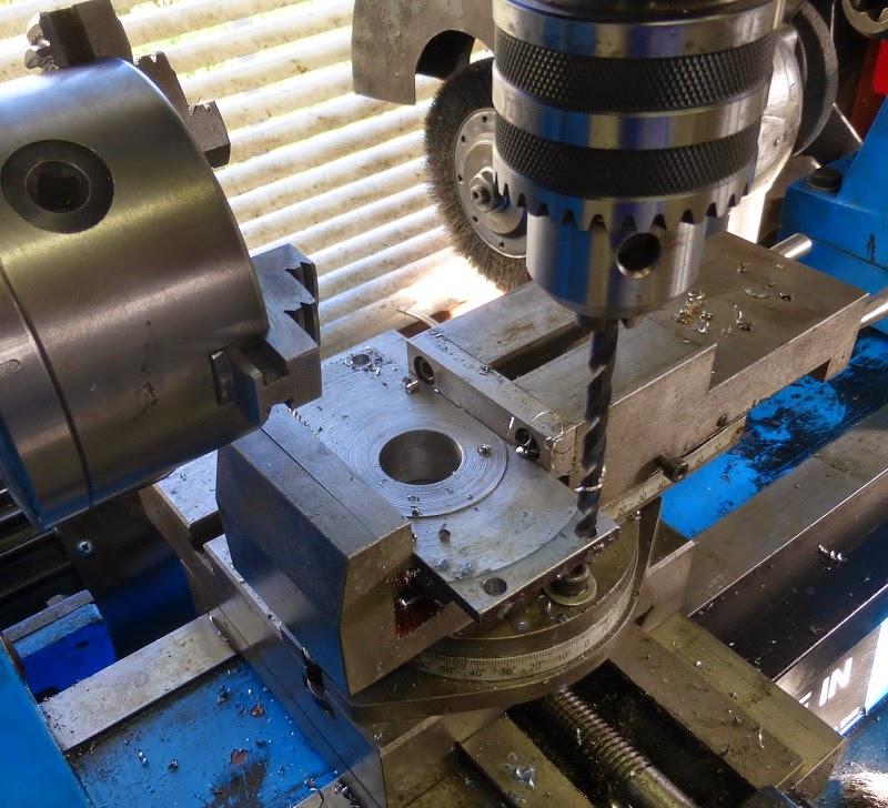 drilling holes to mount big sprocket