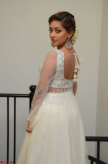 Anu Emmanuel in a Transparent White Choli Cream Ghagra Stunning Pics 025.JPG