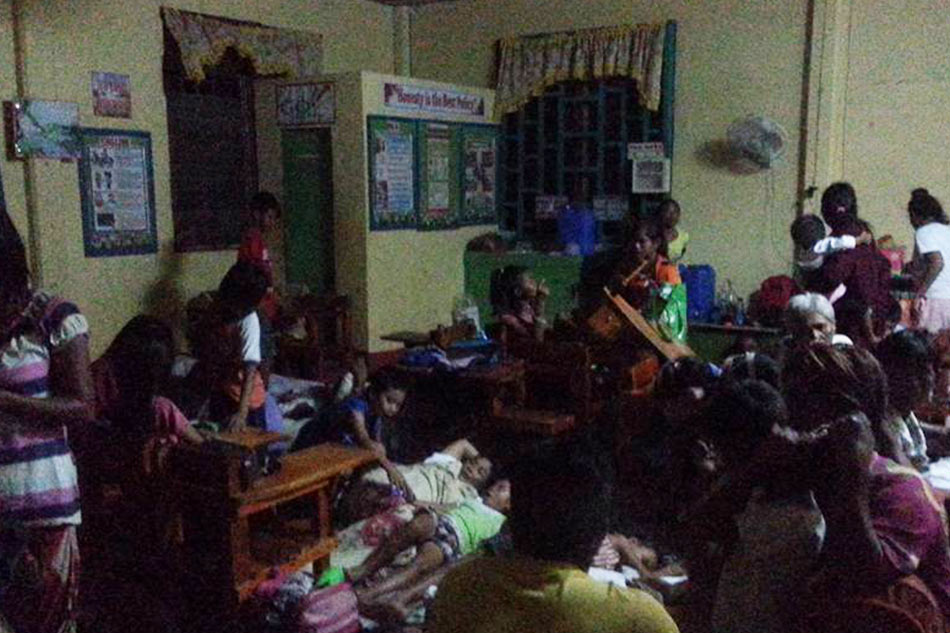 Around 233 families in Bauang town in La Union were displaced due to the super typhoon