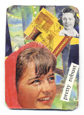 collaged artist trading card