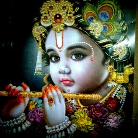 3d Wallpaper Jai Mata Di Cute Kanha Ji Adbhutah Wonderful God