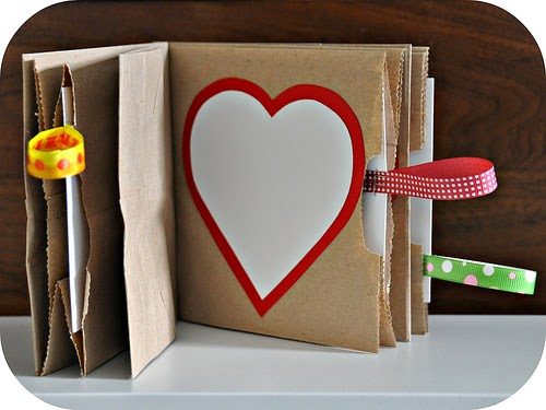 DIY kids paper bag book