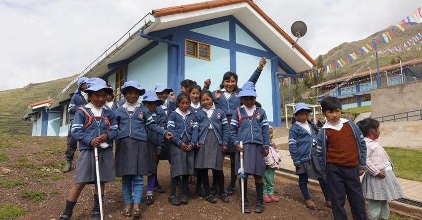 PRONIED: Niños y jóvenes cusqueños tendrán un buen inicio de año escolar en la remodelada IE N° 50162 de Lamay en Cusco - www.pronied.gob.pe
