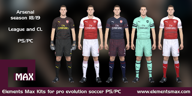 Arsenal 18/19 PES Kits