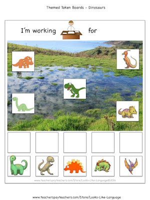 Freebies for Autism- Themed Token Boards fro Looks-Like-Language