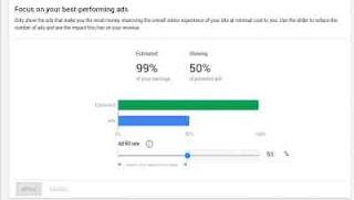 Fitur Google Adsense Ad balance