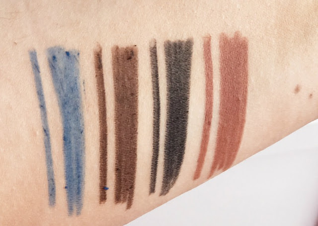 Clarins 4-Colour Pen Liners Review Swatches