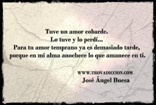 Frase del Poema de la despedida de Jose Angel Buesa