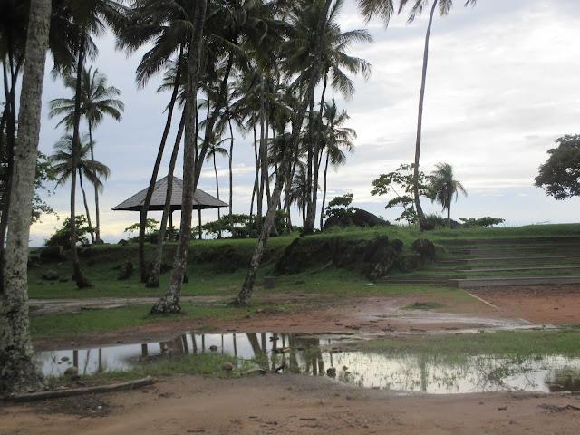Guyane, Cayenne, pointe buzaré, océan, pique-nique