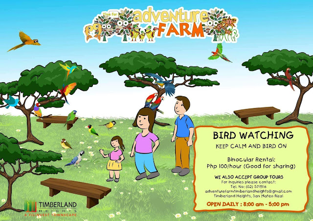 adventure farm birdwatching rate