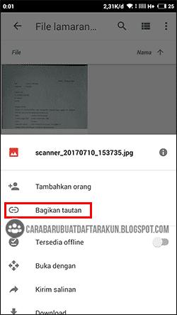cara mengirim file lewat google drive android