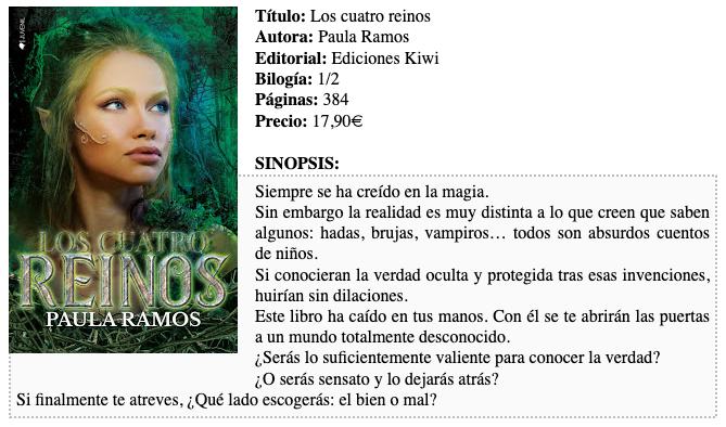 Reseña Los cuatro reinos de Paula Ramos