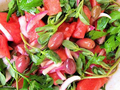 Καλοκαιρινές σαλάτες με καρπούζι