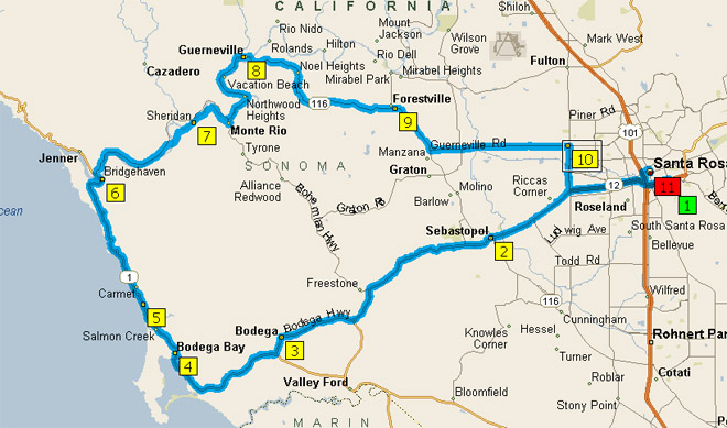 Santa Rosa California Map.Greenbrae California Map Catwalkwords
