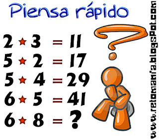 Descubre el número, Piensa rápido, Sólo para genios, Cuál es el resultado, Problemas matemáticos, Problemas de Lógica