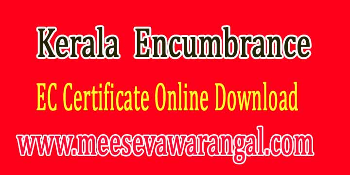 Kerala EC Encumbrance Certificate land Records Search Online