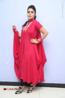 Actress Poorna Latest Stills in Red Dress at Rakshasi First Look Launch  0340.JPG
