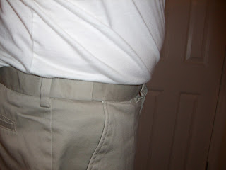 "Walmart ""George"" khaki with hidden waist band"