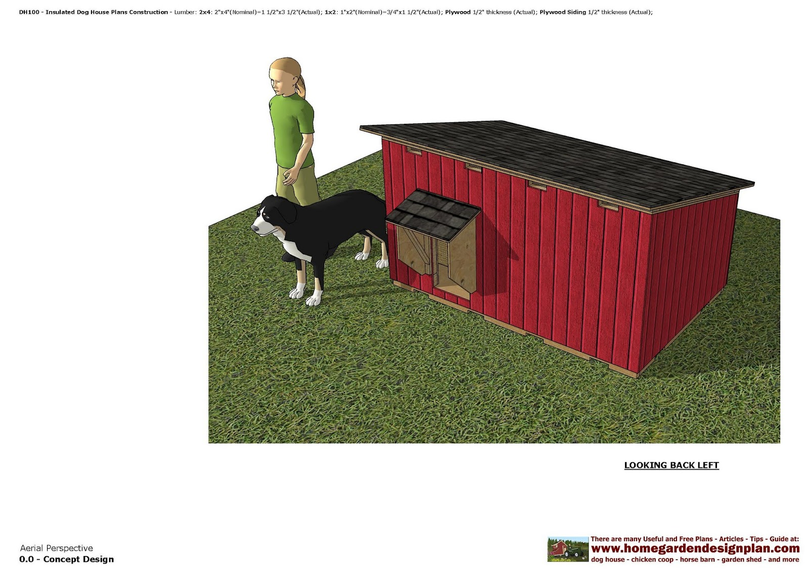 home garden plans  DH100   Insulated Dog House Plans   Dog House     DH100   Insulated Dog House Plans   Dog House Design   How To Build An Insulated  Dog House