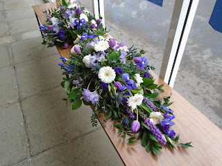 Mum's funeral flowers at Masonhill, 3