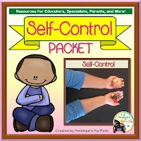 Self-Control Character Education - Social Skills Teaching Packet