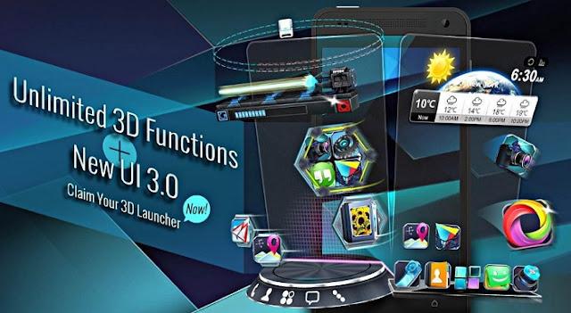 Aplikasi Tema 3D Android Terbaru 2018