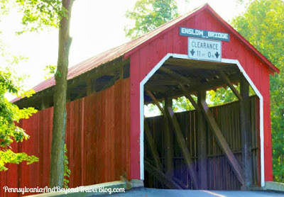 Enslow Covered Bridge in Blain, Perry County, Pennsylvania