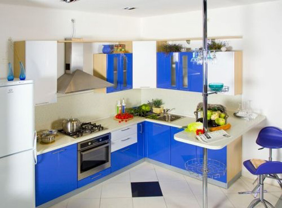 Blue Interior Design Photos for Kitchen