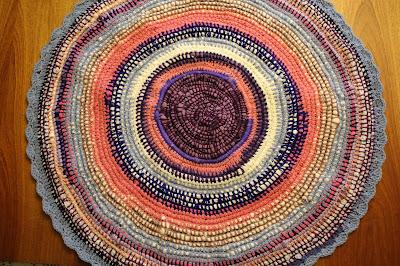 Kolorowy dywanik recyklingowy