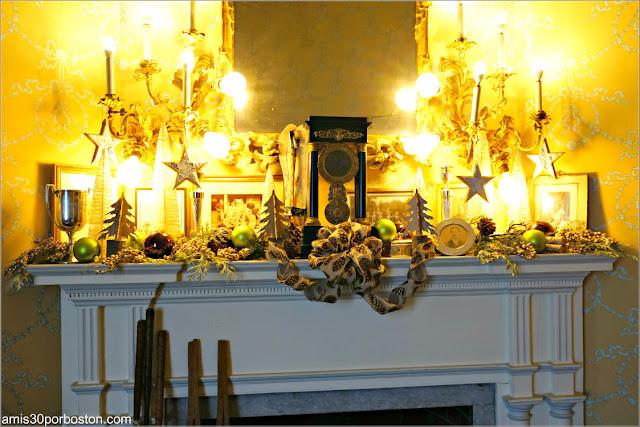 Dormitorio de Harold Vanderbilt en Marble House, Newport