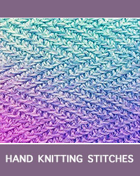 Learn Herringbone Slip Stitch Pattern with our easy to follow instructions at HandKnittingStitches.com