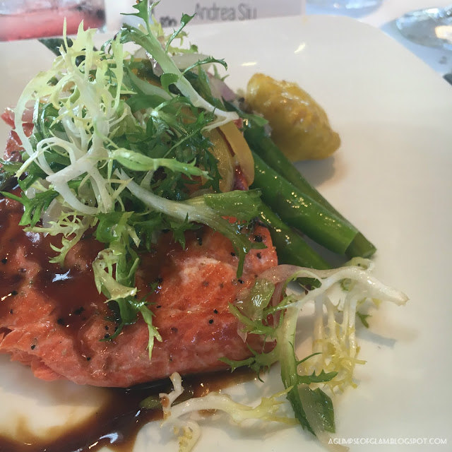 Grilled Salmon and vegetables - Andrea Tiffany A Glimpse of Glam