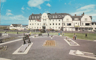 A postcard of Pontin's Prestatyn Holiday Village, Central Beach, North Wales. Postally Used 8 July 1977 Photo Precision Limited