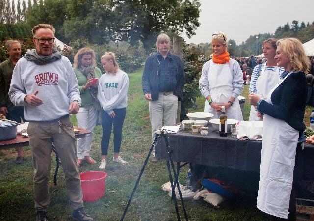 Caroline Gladstone's campfire cooking at The Good Life Experience