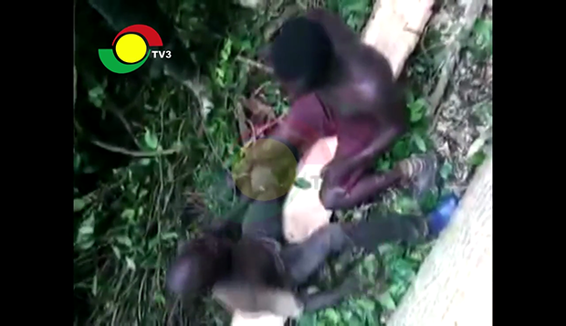 Video:Two Illegal Chain Saw Operators Made To Slap Each Other After Arrest