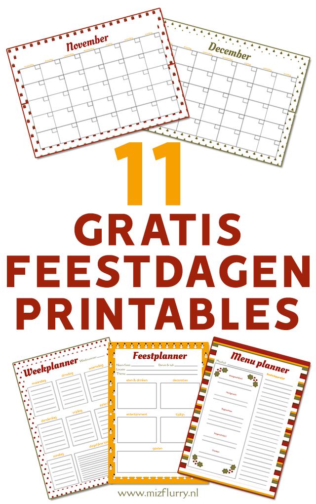 11 gratis feestdagen printables pinterest