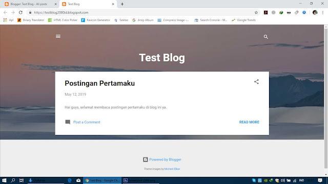 Blog Telah Selesai Dibuat