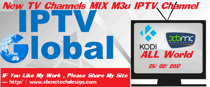 Download New TV Channels MIX M3u IPTV Channel for kodi