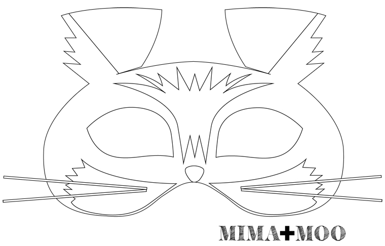 Mima moo diy cat mask for Caterpillar mask template