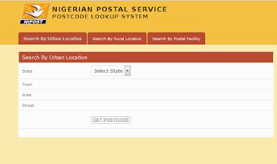 Nigerian Postal codes, postcode, ZIP