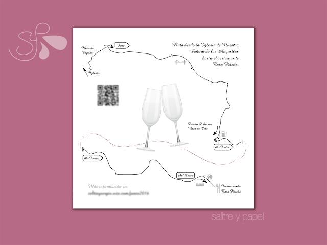 diseño mapa personalizado para boda